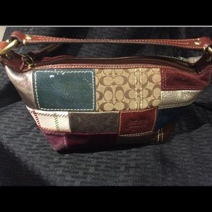 Coach small purse patchwork